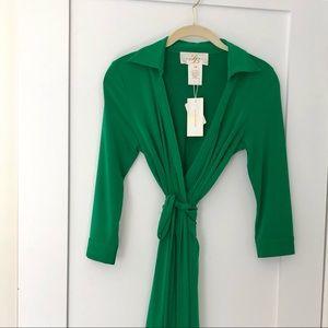 Julie Brown Milo Jersey Wrap Dress NWT